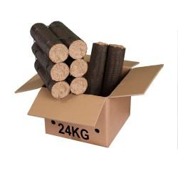Bois de chauffage compressé à combustion Lente - bûches longues - 24 kg