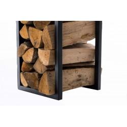 CLP étagère porte bois de cheminée SPARK à la construction stable - porte-bûche avec patins de protection contre rayures sol