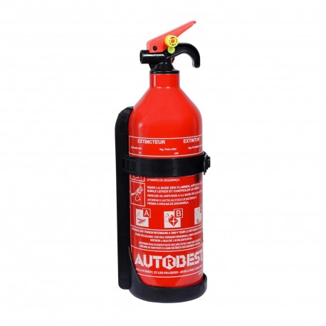 Extincteur 1kg à poudre ABC classes de feux - Autobest
